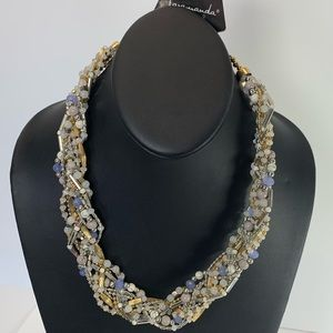 Jewelry - 5/$25 Chunky Beaded gold short Necklace